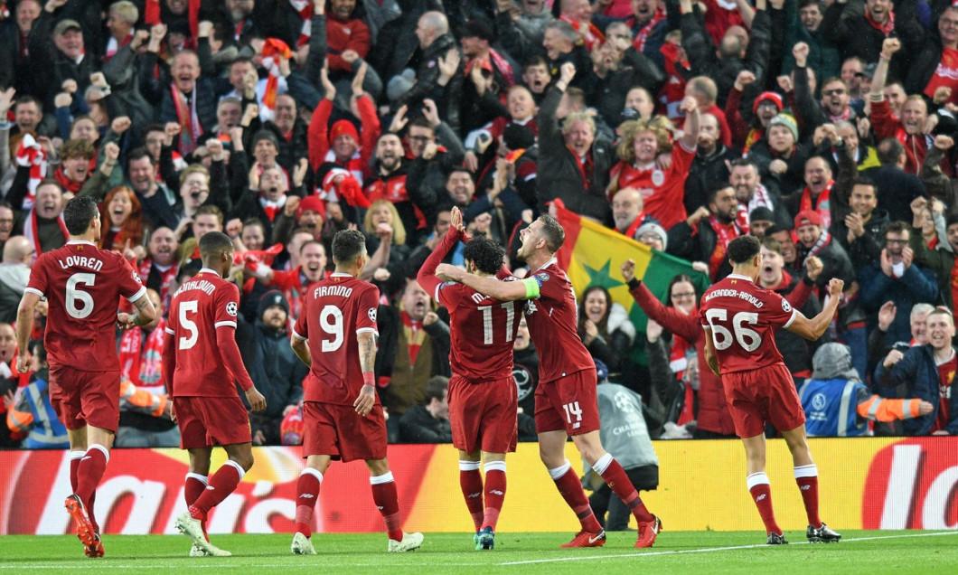 Liverpool v Roma Champions League Semi-Final football match, Anfield Stadium, Liverpool, UK - 24 Apr 2018