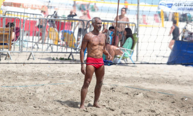 *EXCLUSIVE* Romário shows he is still in shape while playing footvolley at the beach