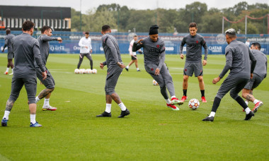 Saint-Germain-en-Laye: PSG's UEFA Champions League Training Session
