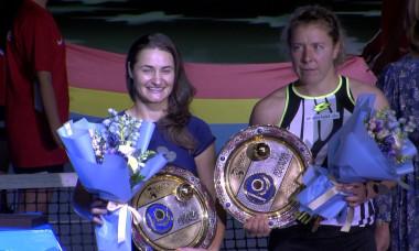 Monica Niculescu și Anna-Lena Friedsam / Foto: Captură Digi Sport