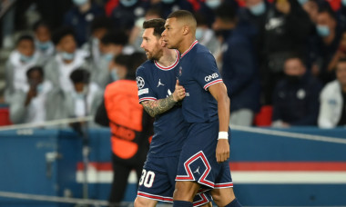 Kylian Mbappe și Lionel Messi, fotbaliștii lui PSG / Foto: Getty Images