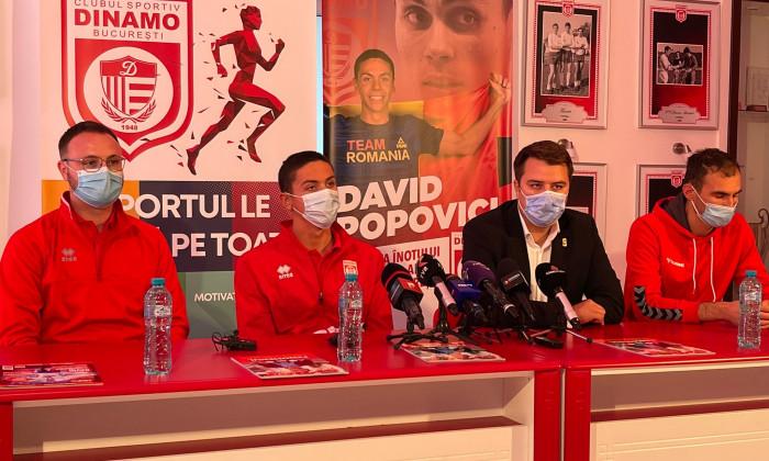 David Popovici, prezentat la CS Dinamo / Foto: Digi Sport