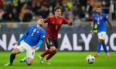 Italy v Spain, UEFA Nations League 2021, Semifinal. Football, San Siro Stadium, Milan, Italy - 6 Oct 2021