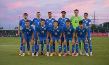România U21 la meciul cu Suedia U20