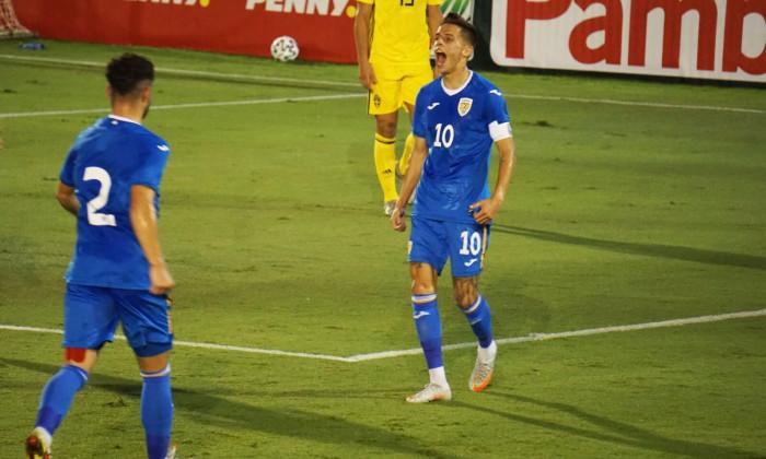 Cîmpanu, marcator al unui gol superb în partida România U21 - Suedia U20