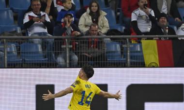 Ianis Hagi, după golul marcat în meciul cu Germania / Foto: Profimedia