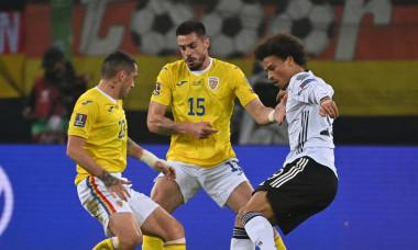 Andrei Burcă, în meciul Germania - România / Foto: Profimedia