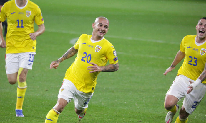 Alex Mitriță, după golul marcat în Armenia - România / Foto: FRF.ro