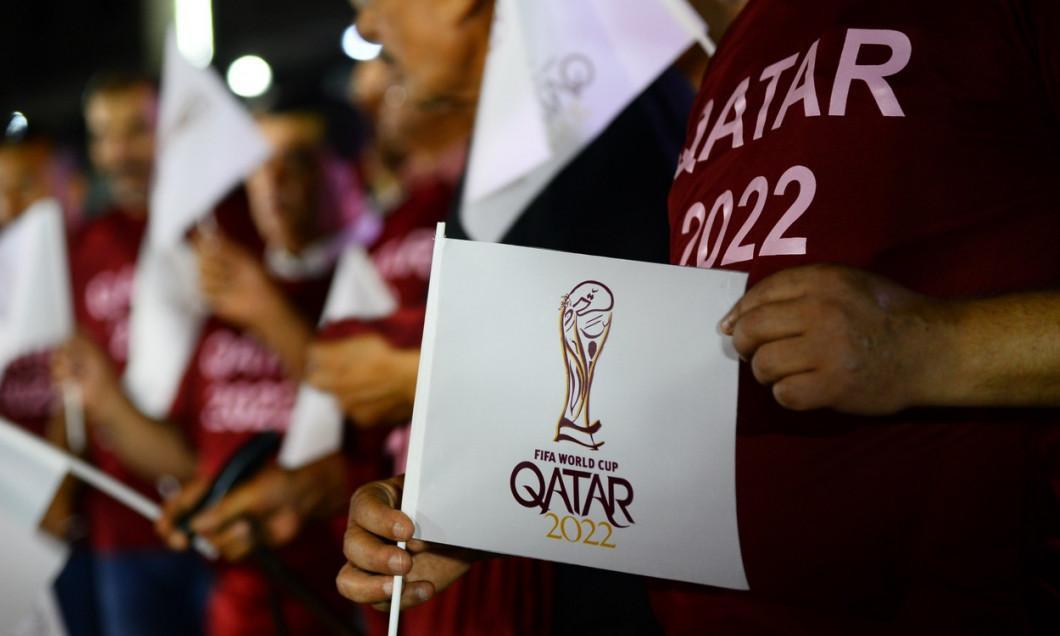 (SP)MIDEAST-GAZA-FOOTBALL-WORLD-CUP-LOGO