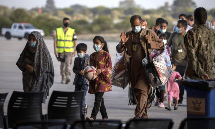 Evacuees From Afghanistan Arrive At Spain's Rota Naval Base