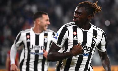Moise Kean, după golul marcat în Juventus - AS Roma / Foto: Profimedia