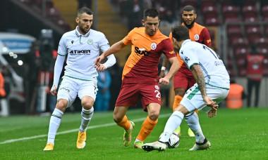 Turkish Super league football match between Galatasaray and Konyaspor at NEF stadium in Istanbul , Turkey on October 17 , 2021.