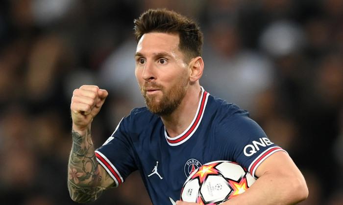 Lionel Messi, după un gol marcat cu RB Leipzig / Foto: Getty Images