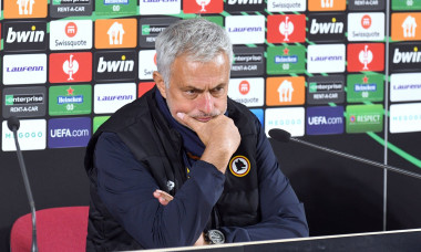 Press conference of head coaches of FC Zorya and AS Roma in Zaporizhzhia, Ukraine - 30 Sep 2021