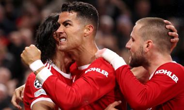 Cristiano Ronaldo, după golul marcat în Manchester United - Atalanta / Foto: Getty Images