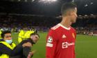 Un fan a invadat terenul și a alergat către Cristiano Ronaldo / Foto: Captură Digi Sport