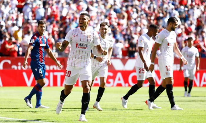 Sevilla FC v Levante UD, La Liga 2021-2022, date 10. Football, Sanchez Pizjuan Stadium, Sevilla, Spain - 24 Oct 2021