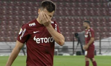 Mihai Bordeianu, după ce a fost eliminat în CFR Cluj - Sepsi / Foto: Captură Digi Sport
