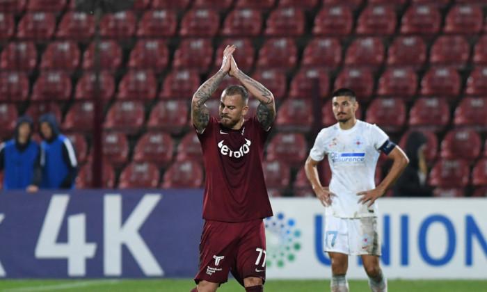 Denis Alibec și Iulian Cristea, într-un meci CFR Cluj - FCSB / Foto: Sport Pictures