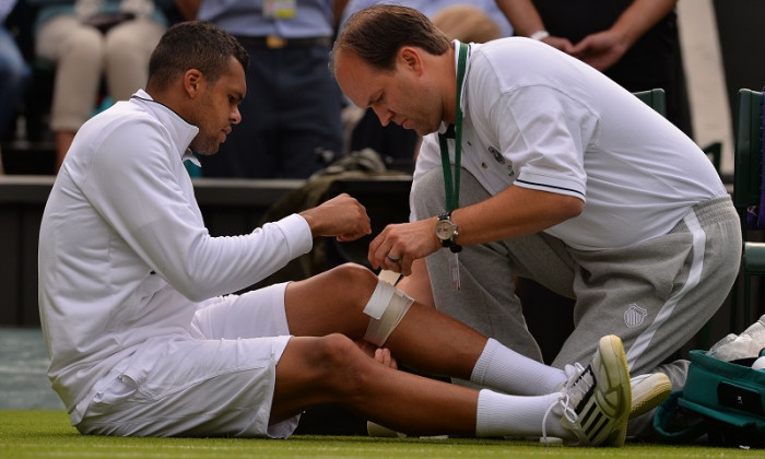 accidentare tsonga wimbledon