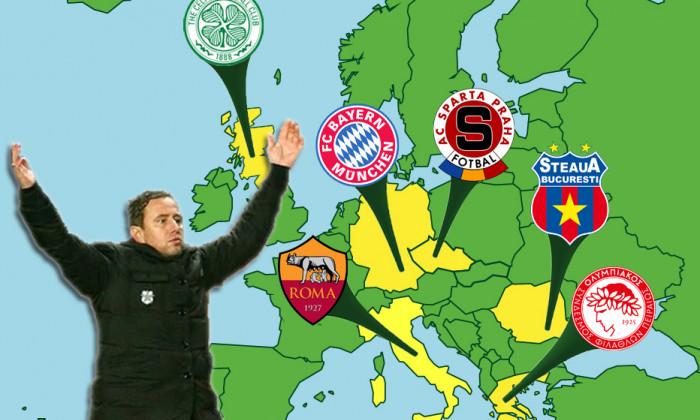 echipe neinvinse harta europei