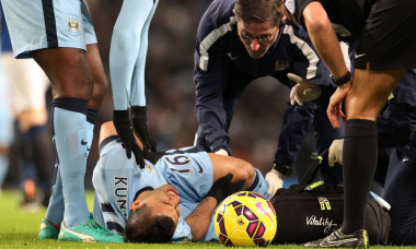 aguero accidentare genunchi