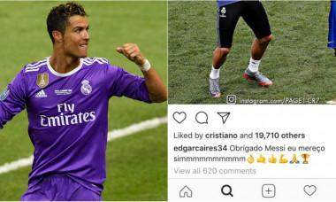 ronaldo instagram messi