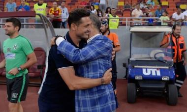 Gigi Becali și Mirel Rădoi, înaintea unui meci