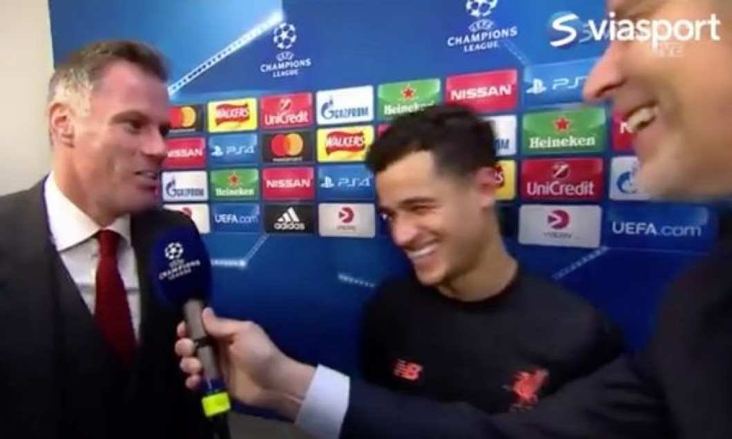 Coutinho-joke-when-Jamie-Carraghers-phone-goes-of