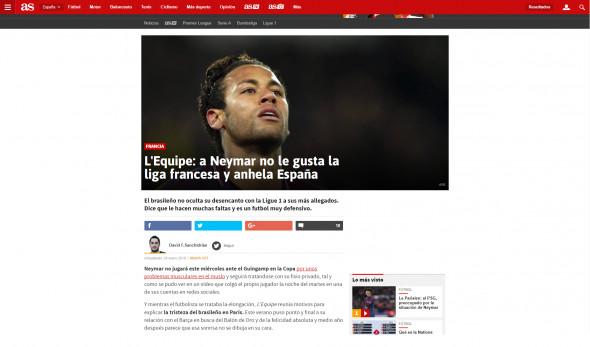 As.com se numără printre publicațiile internaționale care au preluat informația din L'Equipe