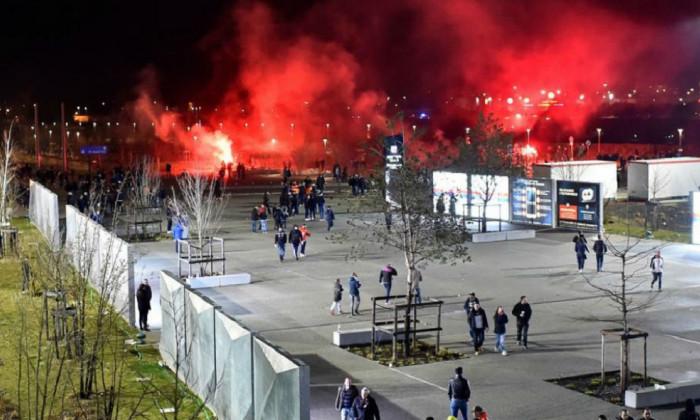 incidente lyon cska moscova