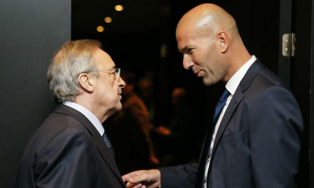 Florentino Perez și Zinedine Zidane