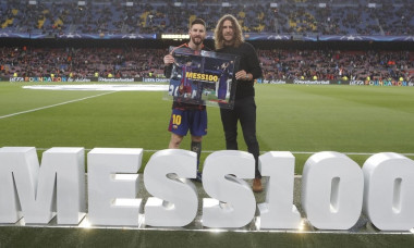 messi puyol 100 ucl