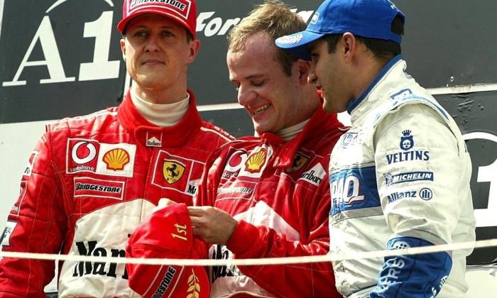 Schumacher, Barrichello și Montoya, în 2012