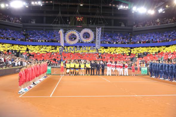 TENIS: CEREMONIA DE DESCHIDERE, FED CUP ROMANIA - ELVETIA (21.04