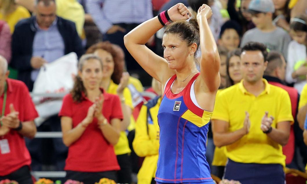 TENIS: IRINA CAMELIA BEGU VS TIMEA BACSINSZKY, FED CUP ROMANIA -