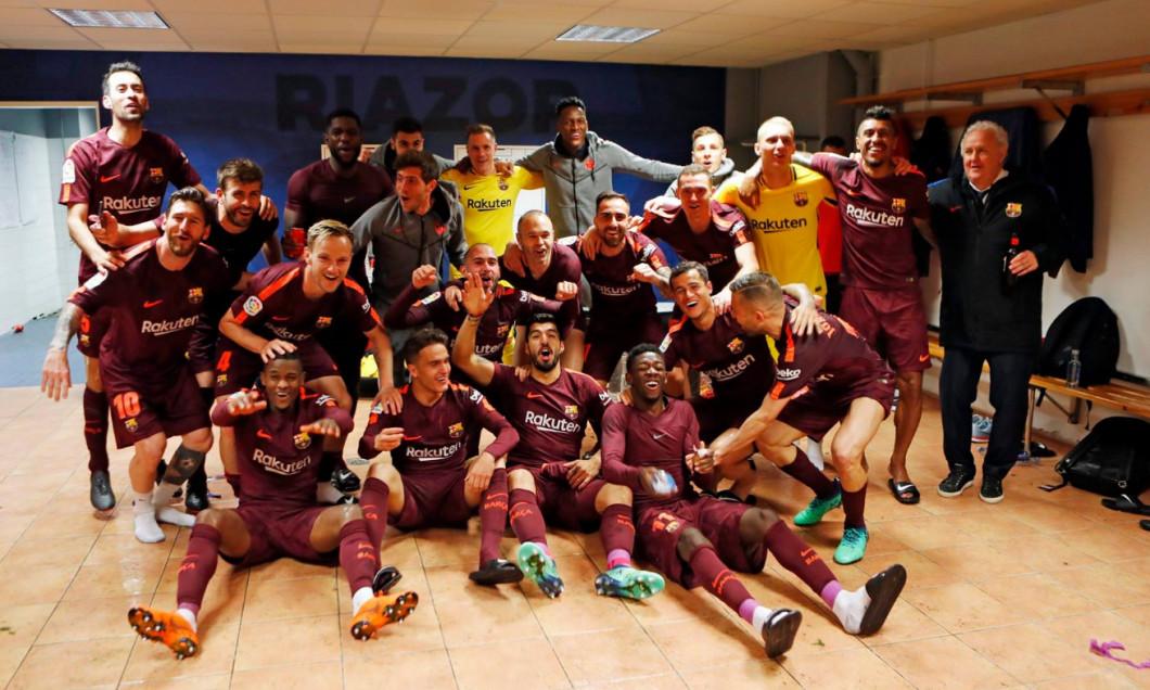 Barcelona bucurie vestiar titlu