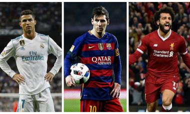 Ronaldo, Messi și Salah