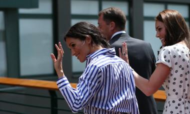 Meghan Markle Kate Middleton Wimbledon 2018