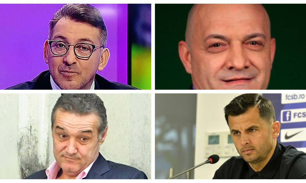 Ilie Dumitrescu, Gabi Balint, Gigi Becali şi Nicolae Dica