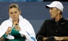 Simona  Halep Daren Cahill finala WTA Cincinnati 2018