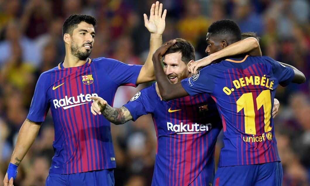 Suarez Messi Dembele