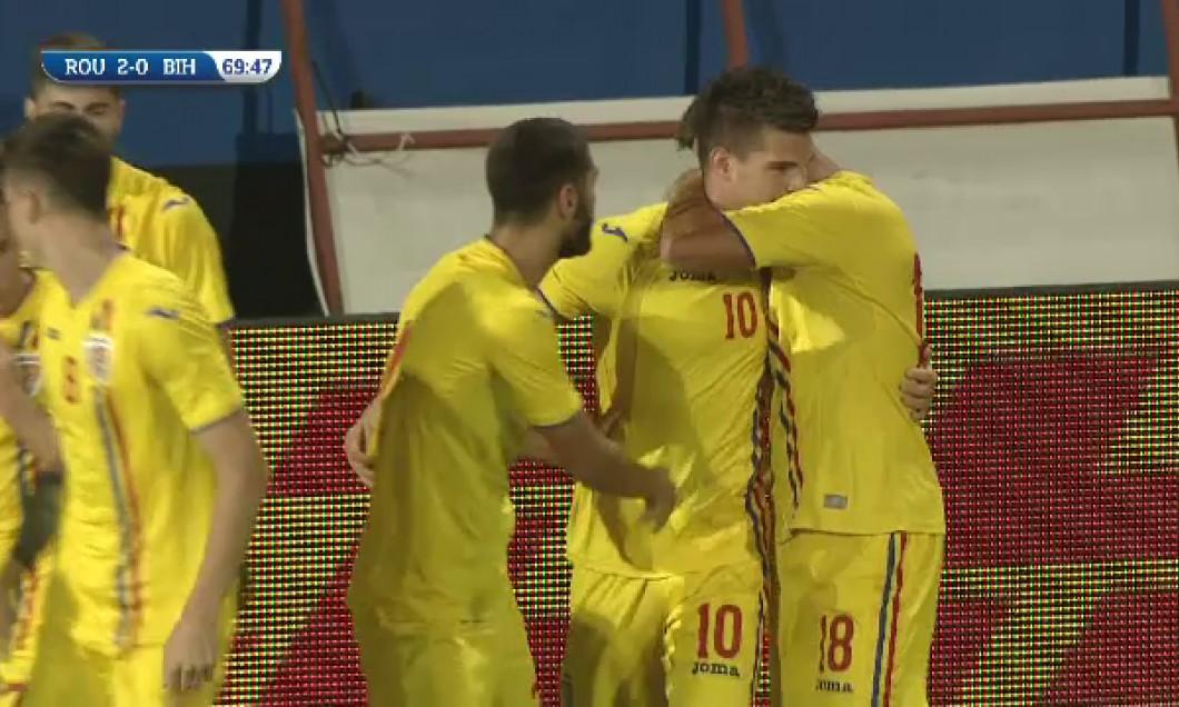 gol ianis Hagi Romania u21 - sport.ro