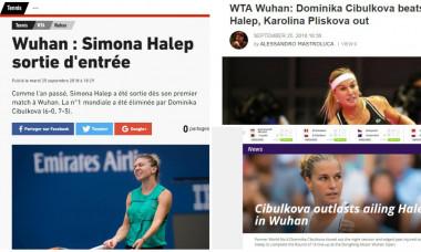 Halep - Cibulkova WTA Wuhan 2018 - presa