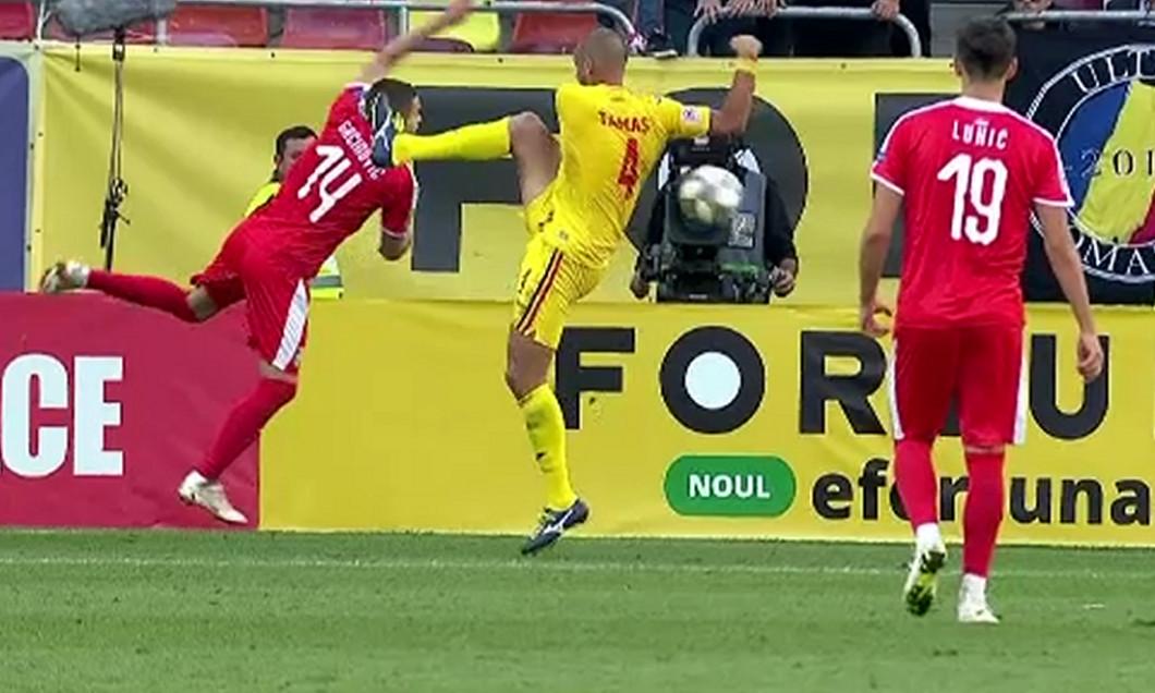 Tamaș a comis penalty