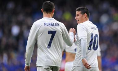 Cristiano Ronaldo și James Rodriguez au fost colegi la Real Madrid între 2014 și 2017