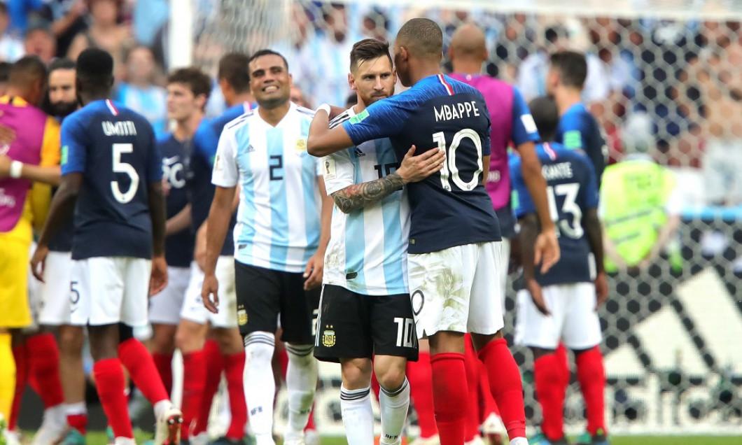 Lionel Messi și Kylian Mbappe