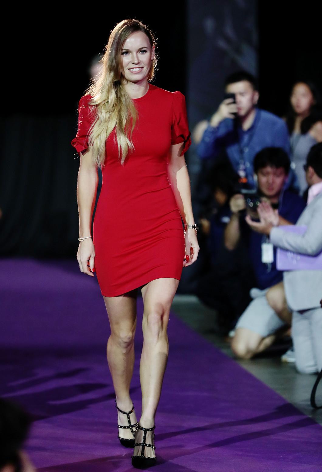 Wozniacki a atras toate privirile la Singapore / Foto: Getty Images