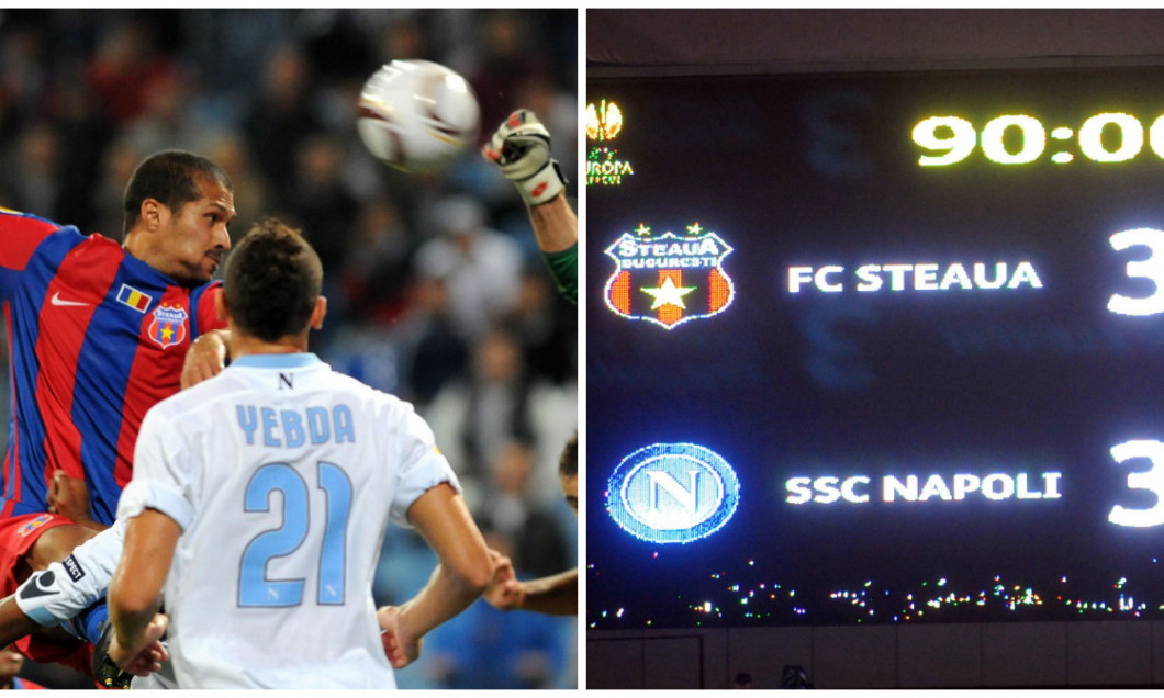 Steaua - Napoli FOTO Gafa UEFA Champions League bun re
