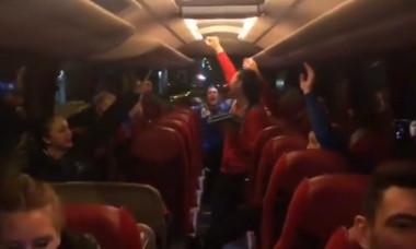 Romania handbal bucurie autocar
